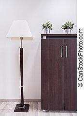 Dark wooden furnitures in the office