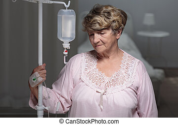 Portrait of senior patient - Portrait of female senior...
