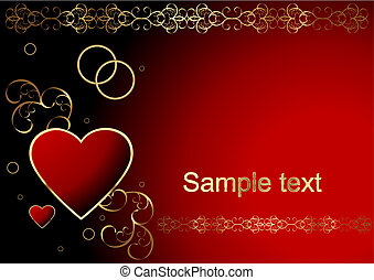 Valentines day background - Editable vector Valentines day...