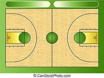 Basketball court - Vector illustration of a basketball court