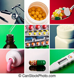 Medical supplies - Collage of different medical supplies
