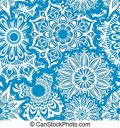Seamless pattern of white round ornaments