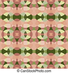 Set Of Four Vector Circle Tiling Retro Patterns In Green Pink