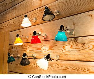 Wall lamps - Set of various wall lamps