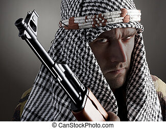 Serious middle eastern man - Portrait of serious middle...