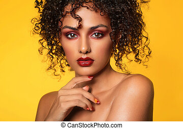 Ethnic Woman With High End Make Up - Pretty Ethnic Woman...