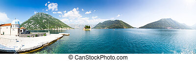 Boka-Kotor bay - Panoramic view of mountains in Boka-Kotor...