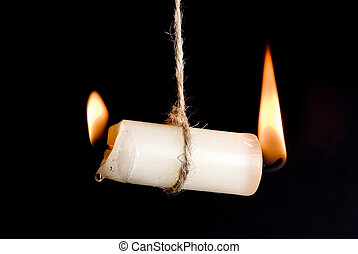 Burn-out - Candle burning on two sides, as a metaphor for...