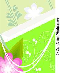 Background with a green bag - This is the background for...