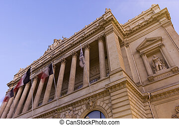 Palais de la Bourse in Marseilles, France - View on Palais...