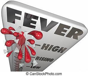 Fever Thermometer Measure Illness Temperature Sick Cold Flu