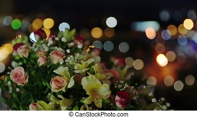 Bouquet of Flowers at Night - Bouquet of flowers at night...