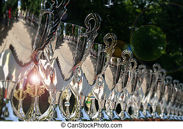trophy cups - chromium-plated trophy cups outdoor