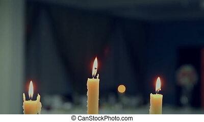 Candles At Restaraunt