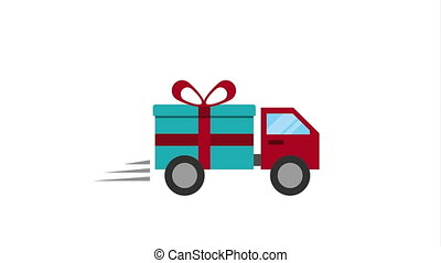 Transportation with gift, Video Animation HD1080