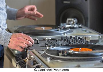 DJ mixing at home