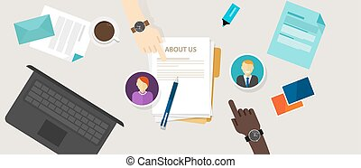 about us page concept icon draft profile company