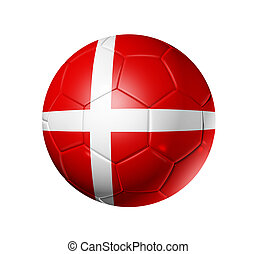 Soccer football ball with Denmark flag - 3D soccer ball with...