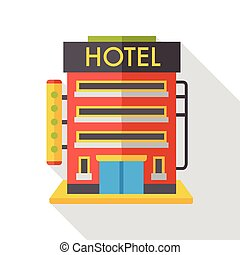 hotel building flat icon