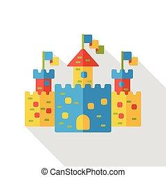 sand castle flat icon