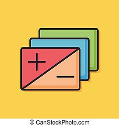 Positive and negative film icon