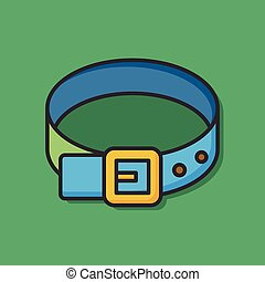 accessory leather belt icon