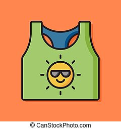clothing tank top icon