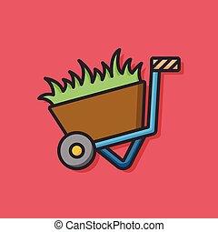 farm grass trolley icon