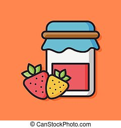 fruit strawberry jam icon