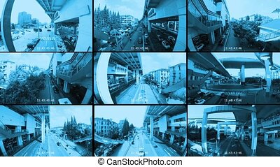 CCTV Footage in monochrome look