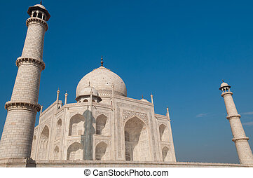 Taj Mahal with blue sky