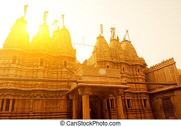 Jaisalmer fort in sunset