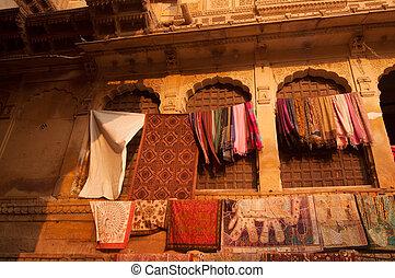 Jaisalmer fort bazaar - Golden sunset view of shopping...