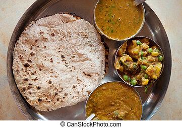 Indian food chapatti roti