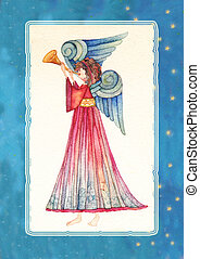 Angel with trumpet