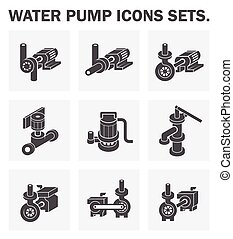 water pump - Water pump icons sets.