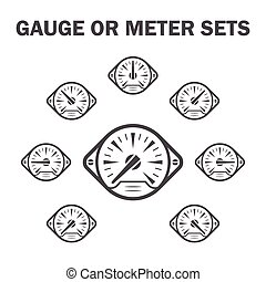 Gauge meter icons sets