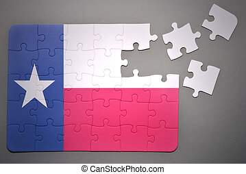 puzzle with the flag of texas state