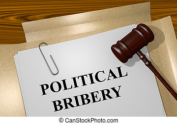 Political Bribery concept - Render illustration of Political...