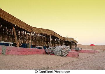 Bedouin house in African desert