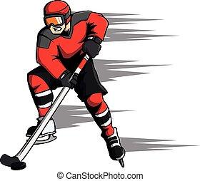 Hockey sport cartoon illustration