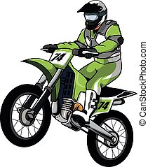Moto cross vector illustration design