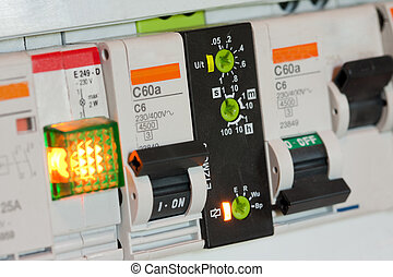 Electrical fuseboxes and components in control panels