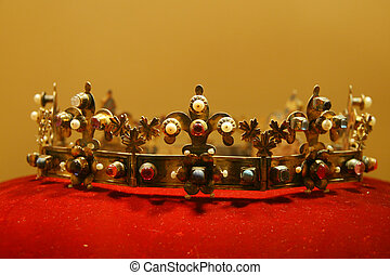 Kings Crown on red velvet