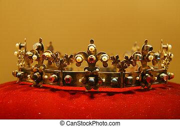 Kings Crown on red velvet