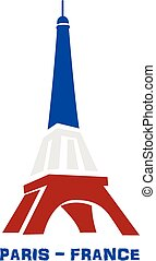 Paris France symbol - Eiffel Tower Paris France logo vector...
