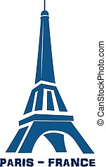 Blue Eiffel Tower - Eiffel Tower Paris France logo vector...