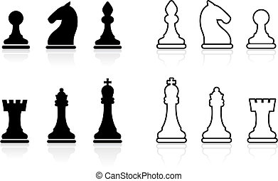 Simple Chess set collection - Original vector illustration:...