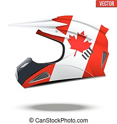Canada Flag on Motorcycle Helmets - Original Motorcycle...