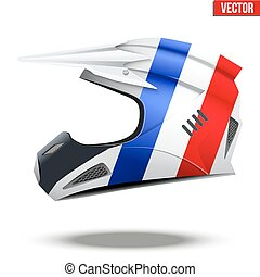 France Flag on Motorcycle Helmets - Original Motorcycle...